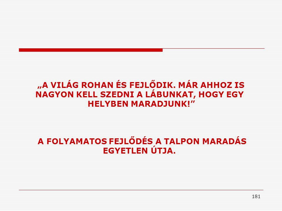 """181 """"A VILÁG ROHAN ÉS FEJLŐDIK."""