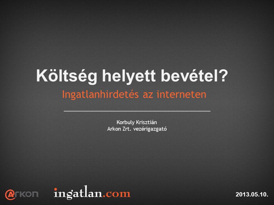 2013.05.10.Ingatlanhirdetés az interneten Költség helyett bevétel.