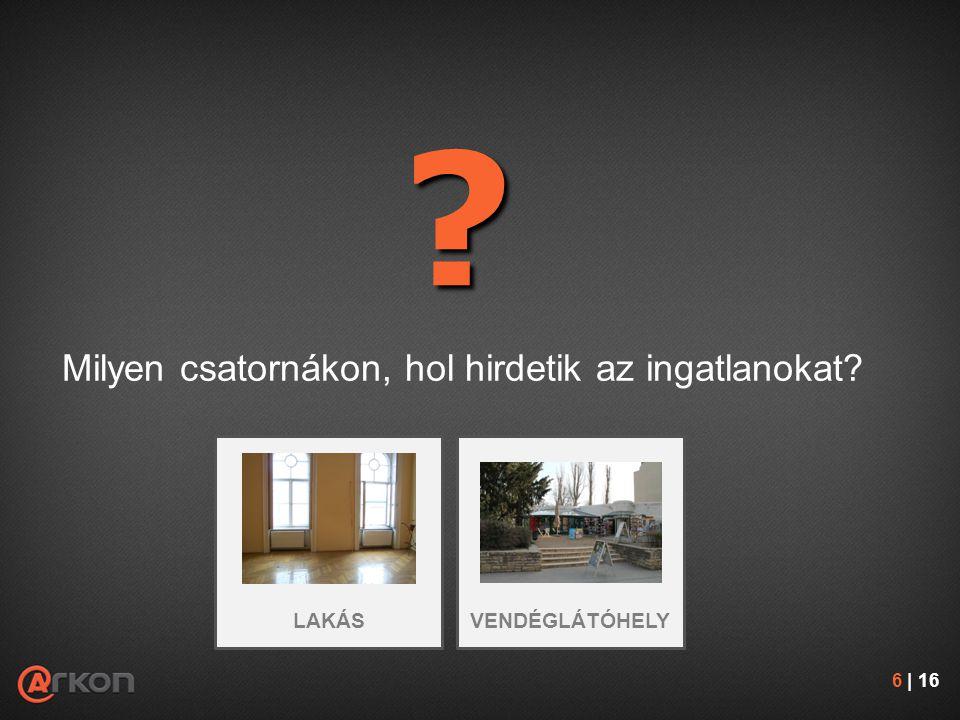 Milyen csatornákon, hol hirdetik az ingatlanokat? ? 6 | 16 VENDÉGLÁTÓHELYLAKÁS
