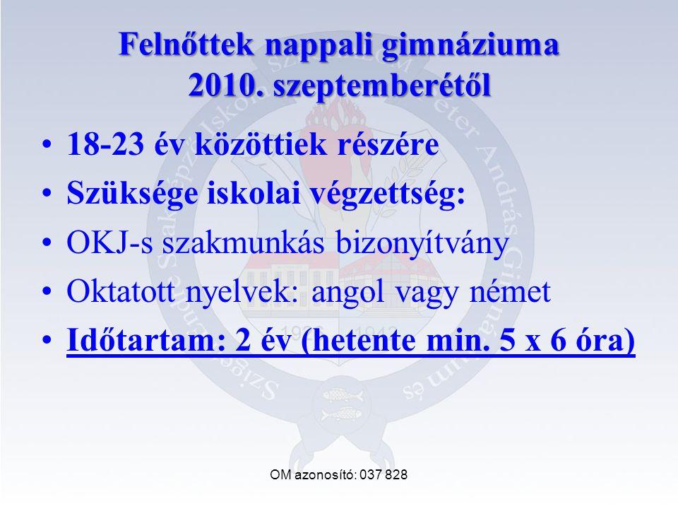 Felnőttek nappali gimnáziuma 2010.