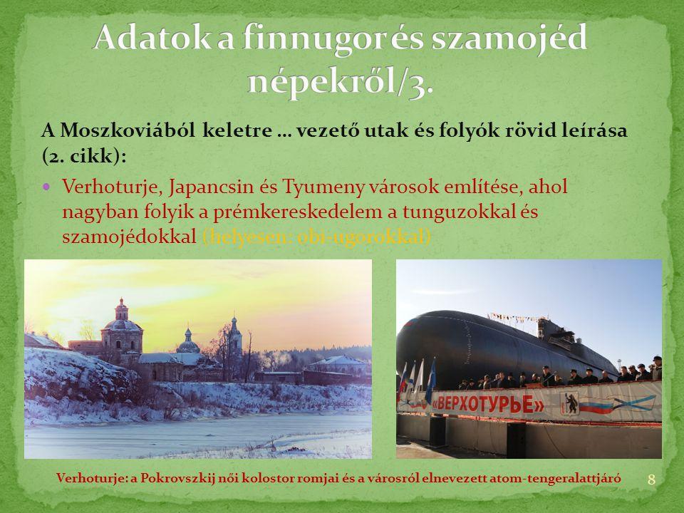 A Moszkoviából keletre … vezető utak és folyók rövid leírása (2.
