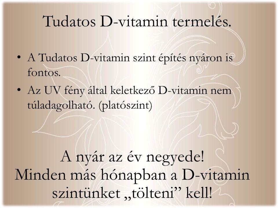 Tudatos D-vitamin termelés. A nyár az év negyede.