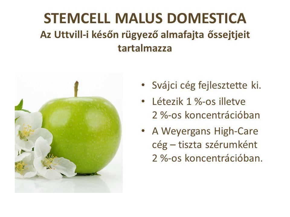 STEMCELL MALUS DOMESTICA Az Uttvill-i későn rügyező almafajta őssejtjeit tartalmazza • Svájci cég fejlesztette ki.
