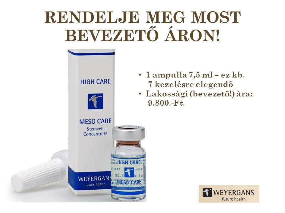 RENDELJE MEG MOST BEVEZETŐ ÁRON. • 1 ampulla 7,5 ml – ez kb.