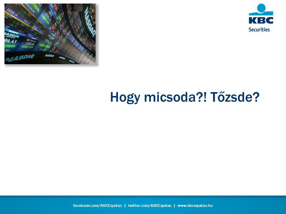 facebook.com/KBCEquitas   twitter.com/KBCEquitas   www.kbcequitas.hu KBC Equitas – Online szolgáltatás 1.