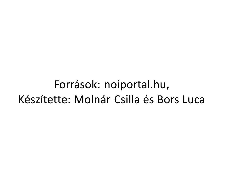 Források: noiportal.hu, Készítette: Molnár Csilla és Bors Luca