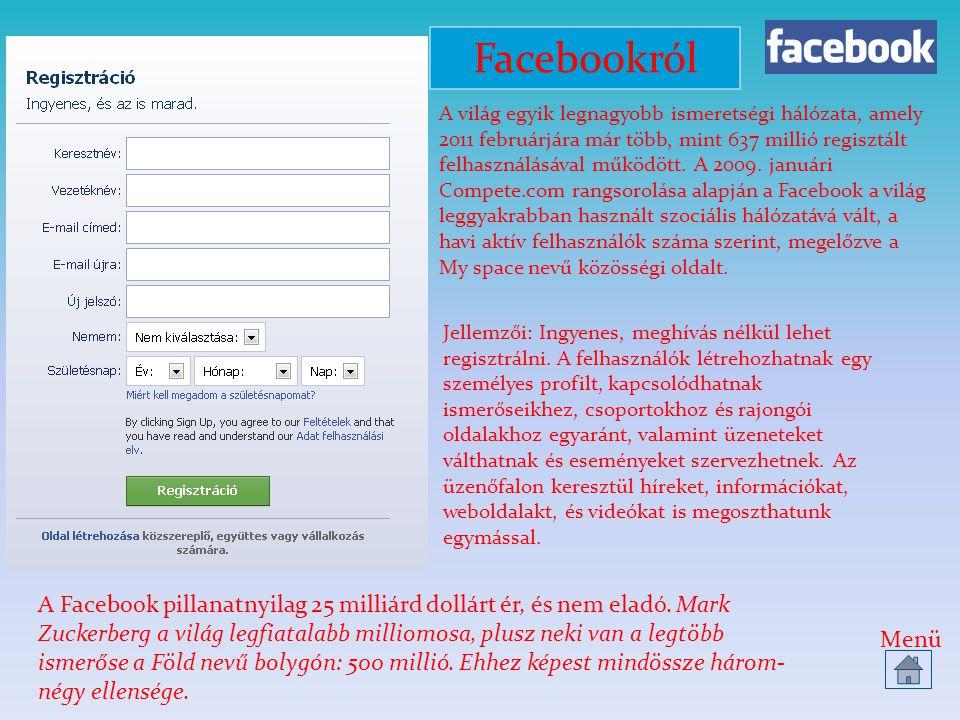Teszt 1.Ki a Facebook alapítója. Mark Zuckerberg 2.