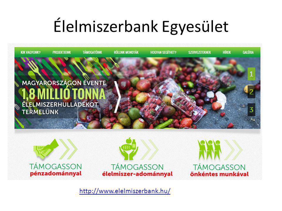 Élelmiszerbank Egyesület http://www.elelmiszerbank.hu/