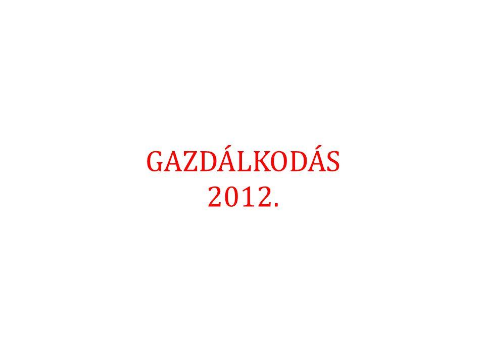 GAZDÁLKODÁS 2012.