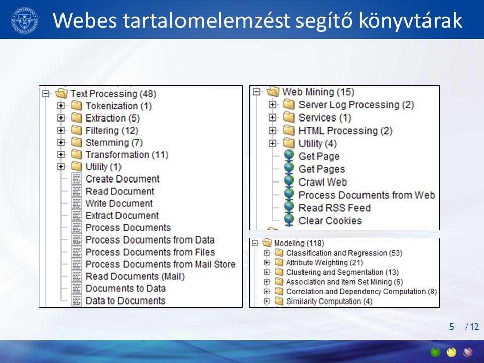 /12 Webes tartalomelemzést segítő könyvtárak 5