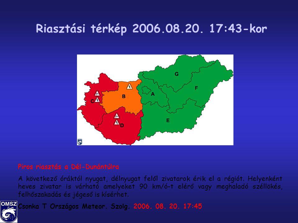 Riasztási térkép 2006.08.20.