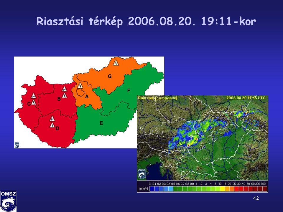 42 Riasztási térkép 2006.08.20. 19:11-kor