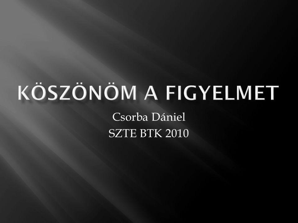 Csorba Dániel SZTE BTK 2010