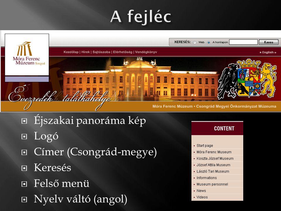  Éjszakai panoráma kép  Logó  Címer (Csongrád-megye)  Keresés  Felső menü  Nyelv váltó (angol)