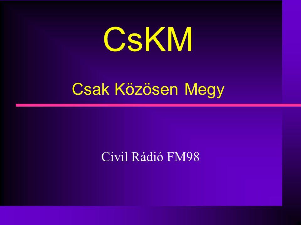 CsKM Csak Közösen Megy Civil Rádió FM98