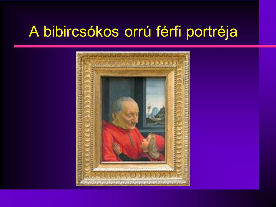 A bibircsókos orrú férfi portréja