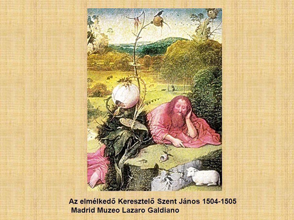 Az elmélkedő Keresztelő Szent János 1504-1505 Madrid Muzeo Lazaro Galdiano