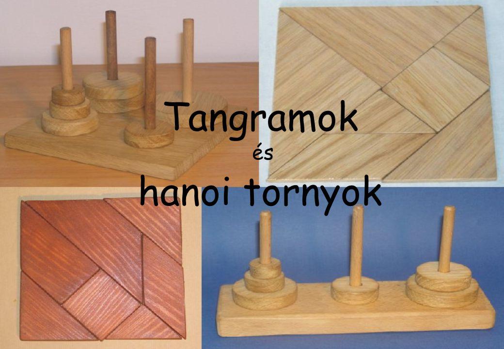 Tangramok Szabályos alakzat szétvágásával keletkező elemek