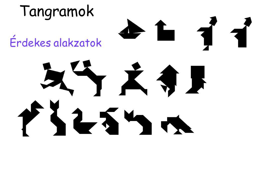 Érdekes alakzatok Tangramok