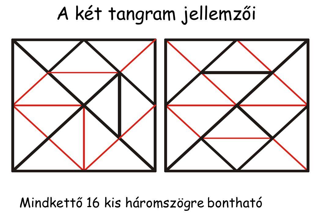 A kínai tangramból 13 féle, a japánból 16 féle konvex alakzat rakható ki .