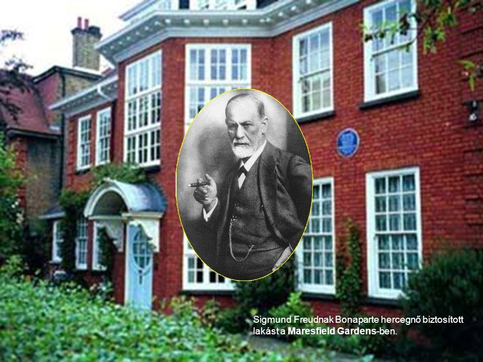 Sigmund Freudnak Bonaparte hercegnő biztosított lakást a Maresfield Gardens-ben.