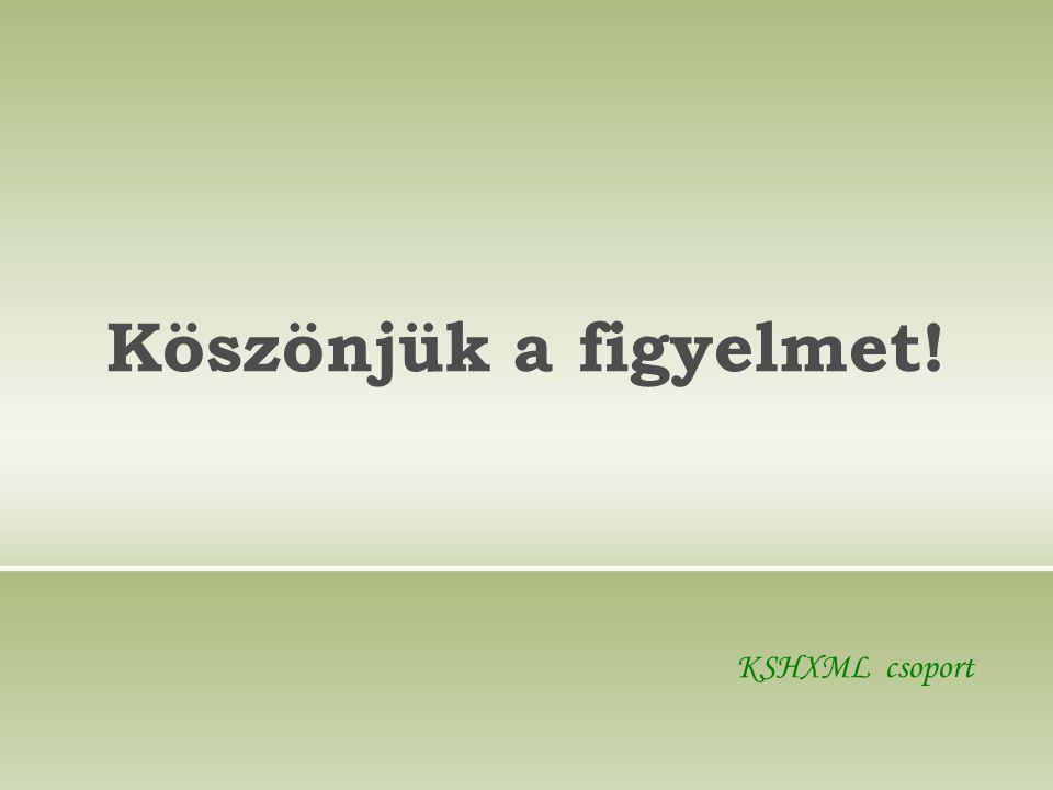 Köszönjük a figyelmet! KSHXML csoport