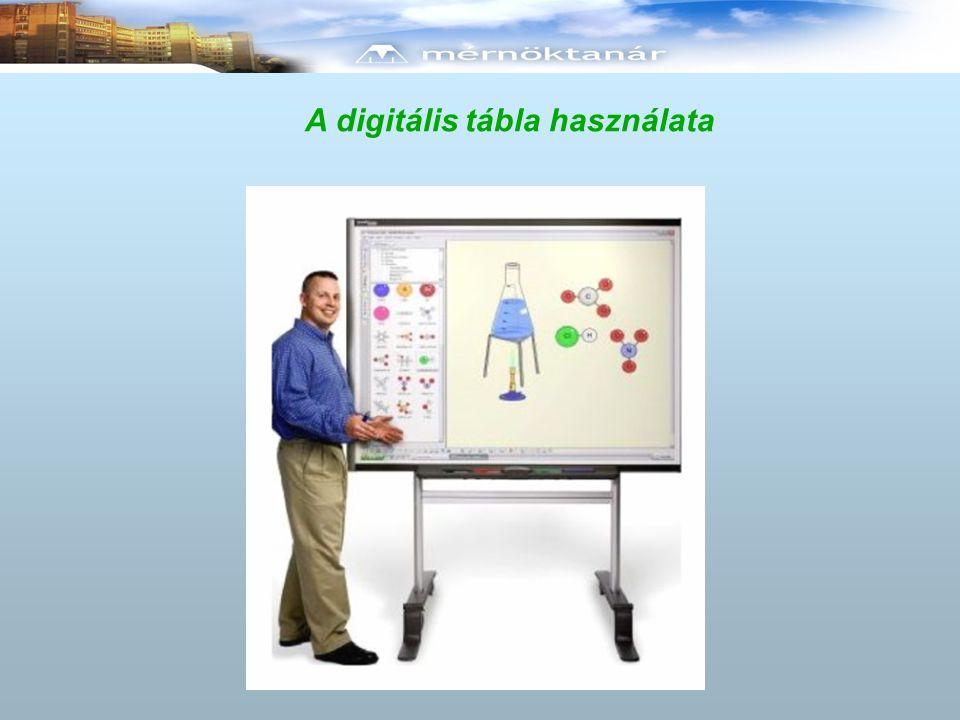 A digitális tábla használata