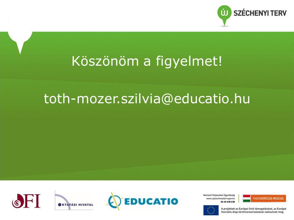Köszönöm a figyelmet! toth-mozer.szilvia@educatio.hu