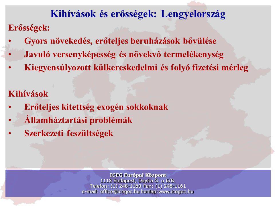 ICEG Európai Központ 1118 Budapest, Dayka G. u 6/B. Telefon: (1) 248-1160 Fax: (1) 248-1161 e-mail: office@icegec.hu honlap:www.icegec.hu Kihívások és