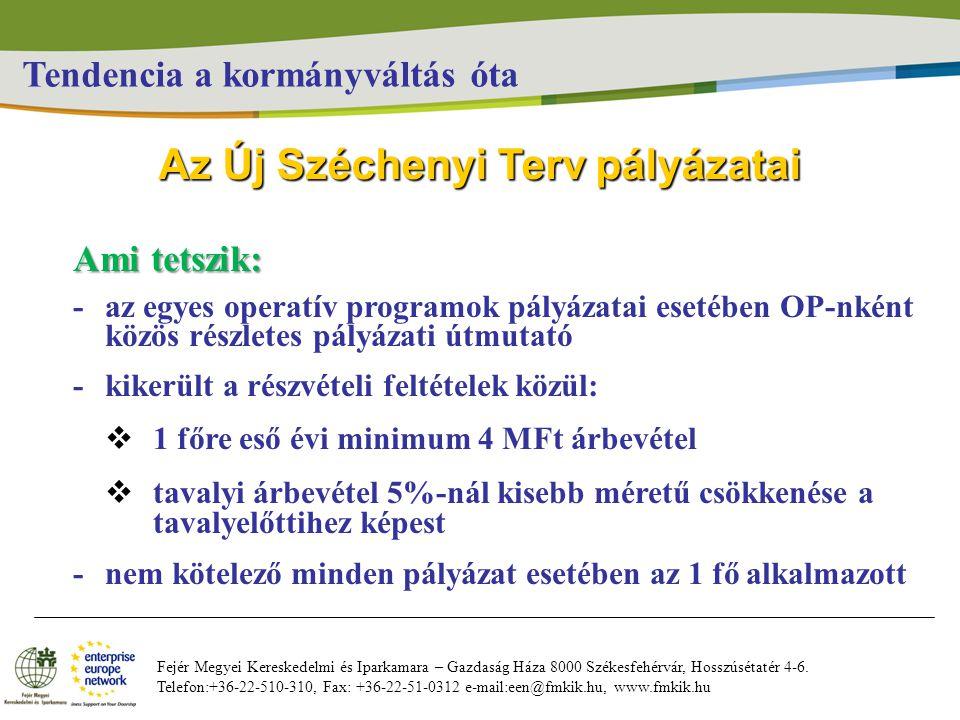 Fejér Megyei Kereskedelmi és Iparkamara – Gazdaság Háza 8000 Székesfehérvár, Hosszúsétatér 4-6.