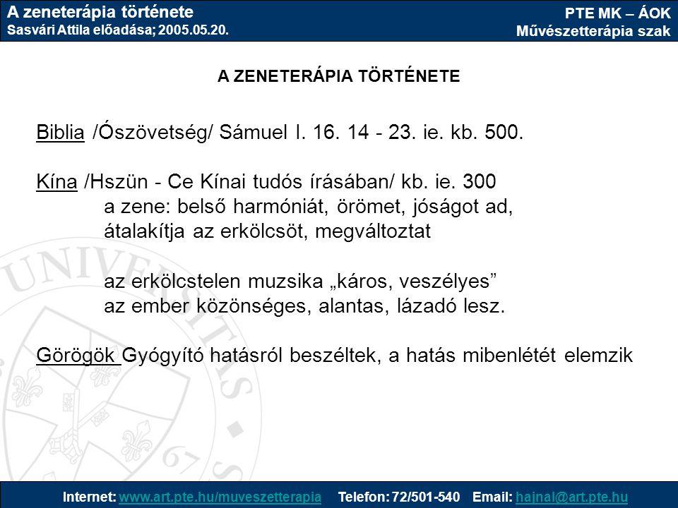 PTE MK – ÁOK Művészetterápia szak Internet: www.art.pte.hu/muveszetterapia Telefon: 72/501-540 Email: hajnal@art.pte.huwww.art.pte.hu/muveszetterapiah