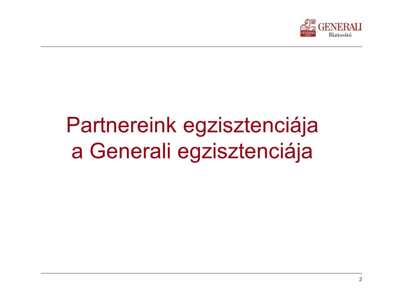 2 Készítette: | dátum: Partnereink egzisztenciája a Generali egzisztenciája