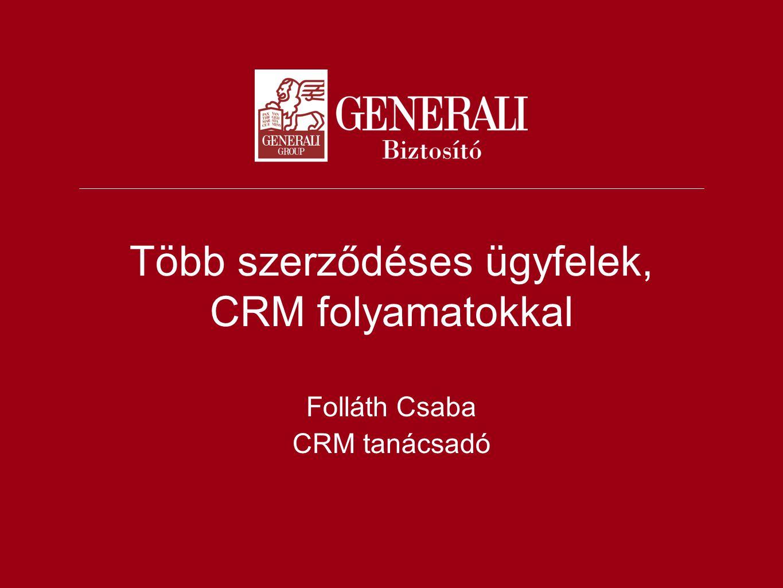 Több szerződéses ügyfelek, CRM folyamatokkal Folláth Csaba CRM tanácsadó