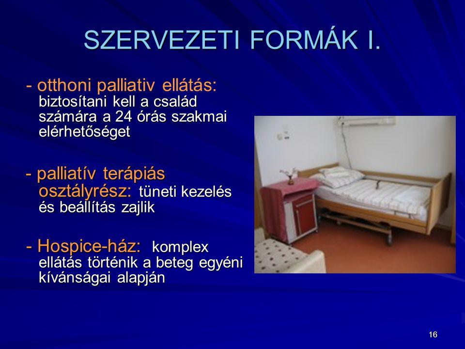 16 SZERVEZETI FORMÁK I.