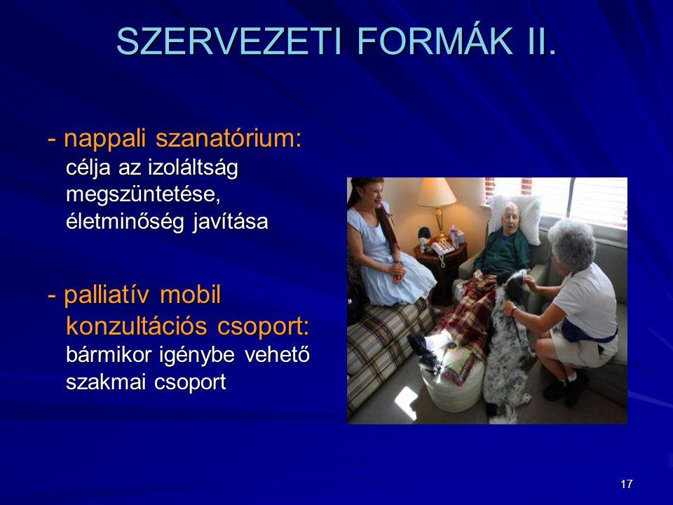 17 SZERVEZETI FORMÁK II.