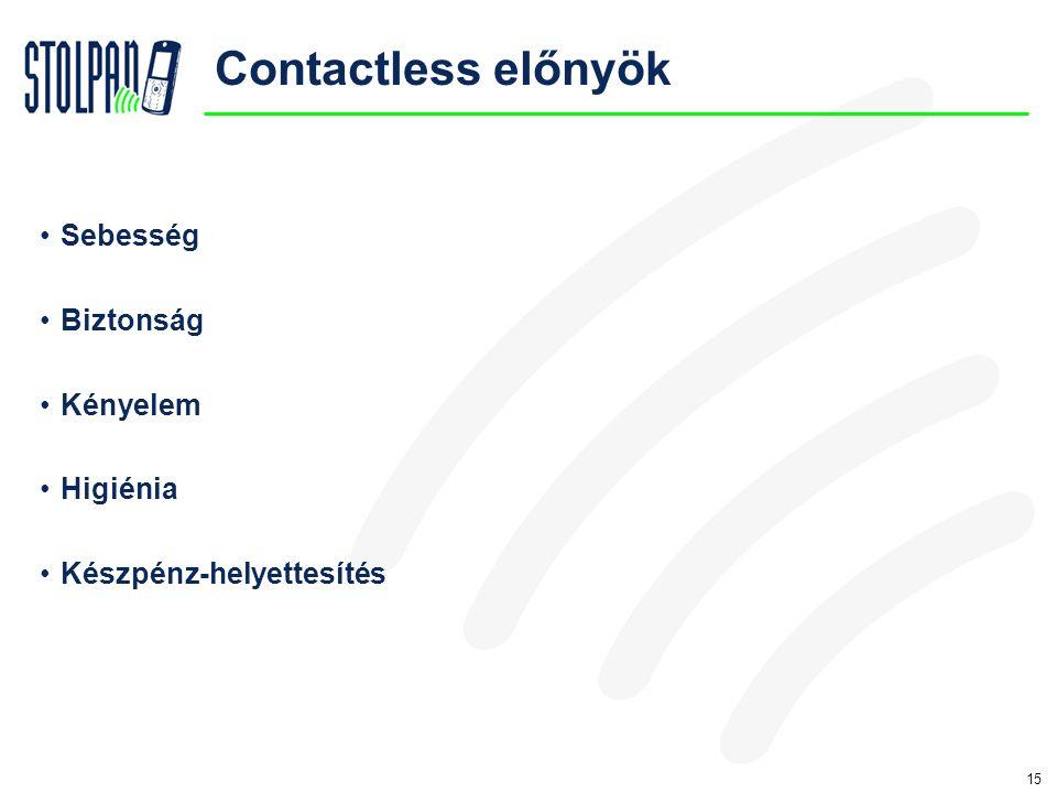 15 Contactless előnyök •Sebesség •Biztonság •Kényelem •Higiénia •Készpénz-helyettesítés