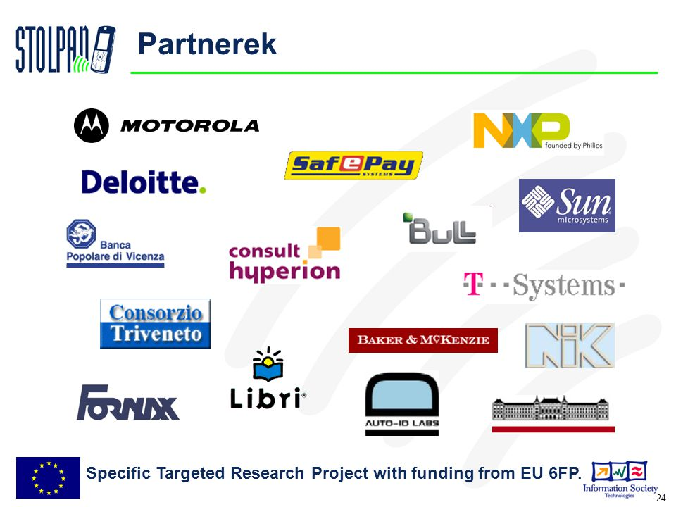 24 Partnerek Specific Targeted Research Project with funding from EU 6FP.