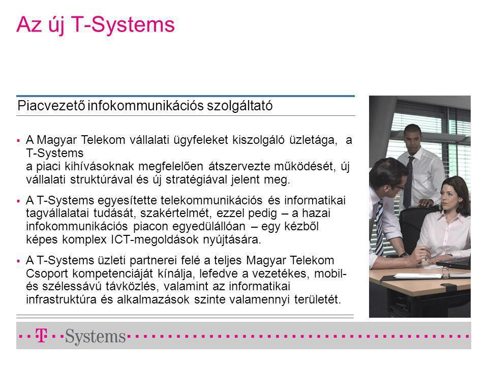  A Magyar Telekom vállalati ügyfeleket kiszolgáló üzletága, a T-Systems a piaci kihívásoknak megfelelően átszervezte működését, új vállalati struktúrával és új stratégiával jelent meg.