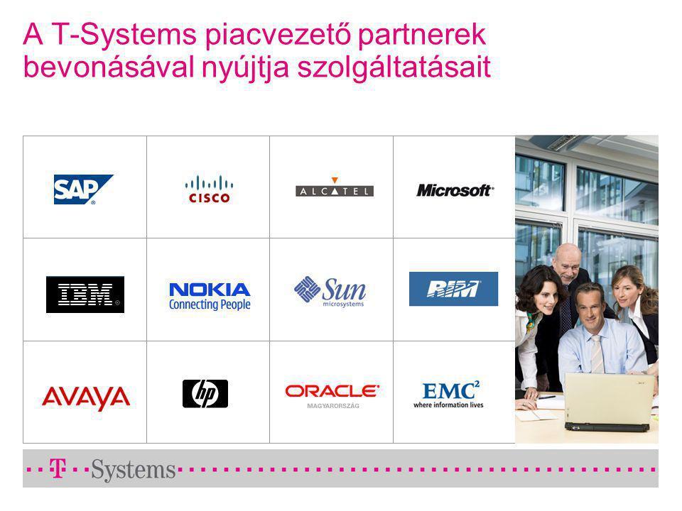 A T-Systems piacvezető partnerek bevonásával nyújtja szolgáltatásait