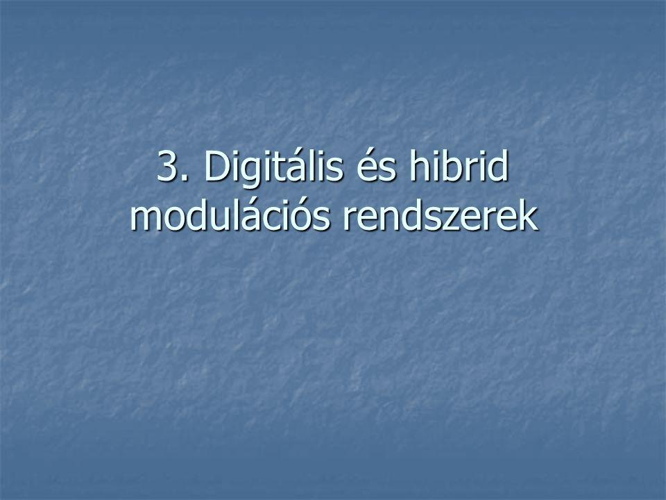 3. Digitális és hibrid modulációs rendszerek
