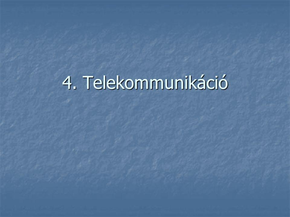 4. Telekommunikáció