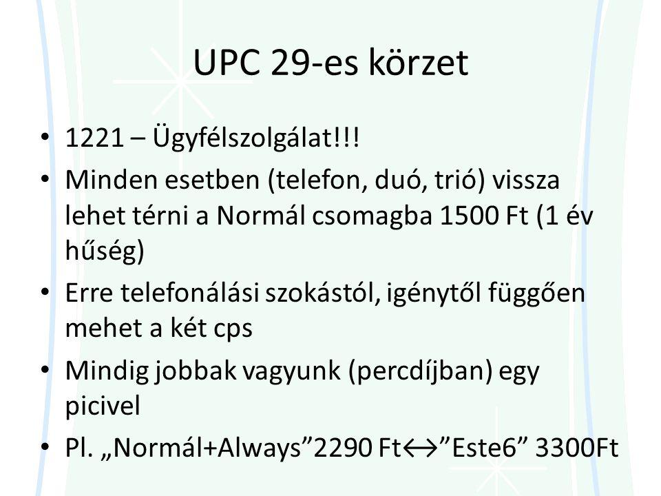 UPC 29-es körzet • 1221 – Ügyfélszolgálat!!.
