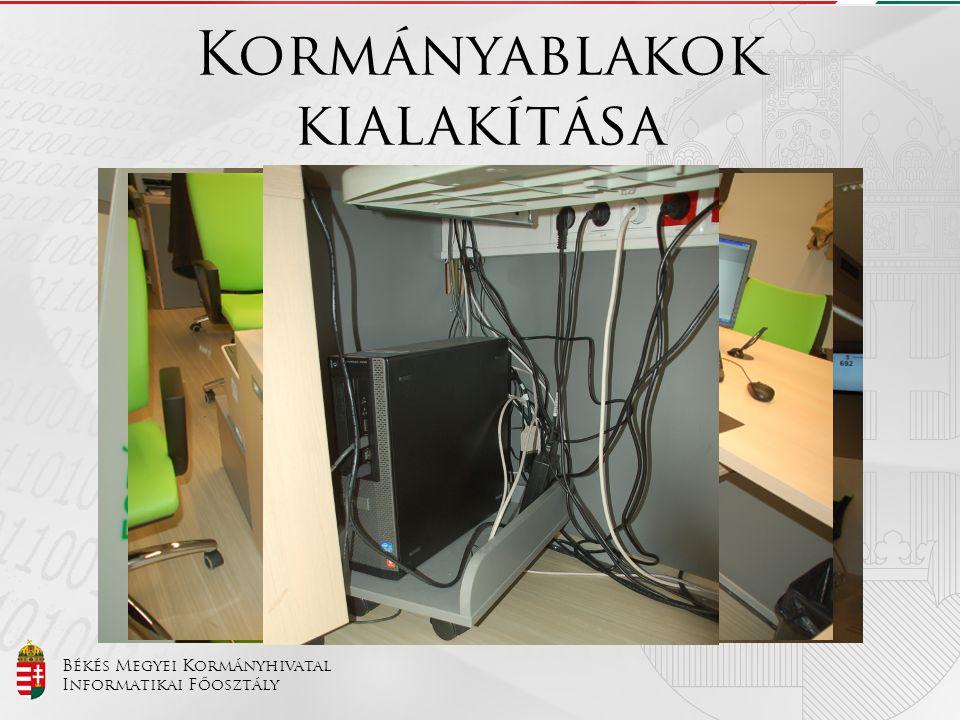 Békés Megyei Kormányhivatal Informatikai Főosztály Kormányablakok kialakítása