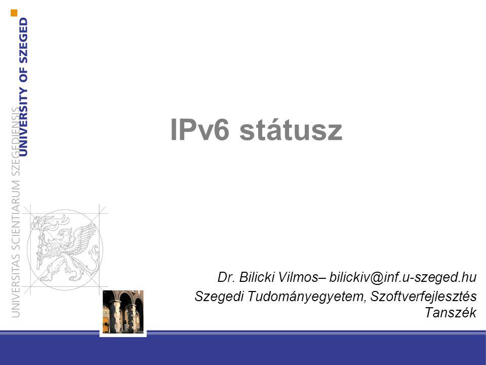 IPv6 státusz Dr.