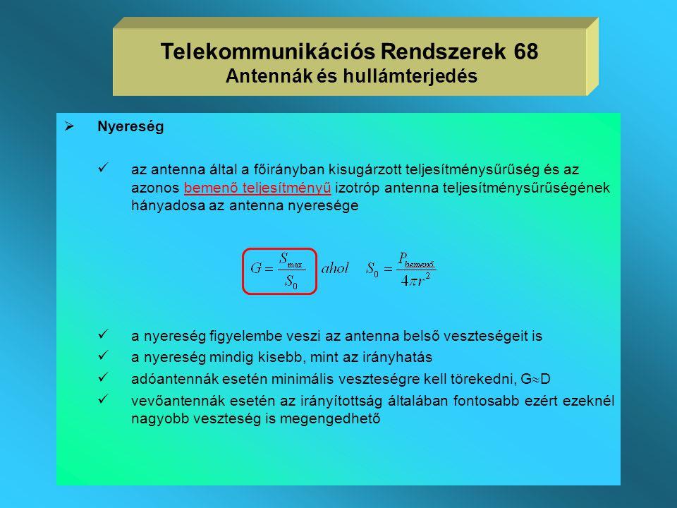  a gyakorlatban inkább csak közelítő formulákat használnak az  A ekvivalens antennanyaláb bevezetésével   A rendszerint közelíthető a főnyaláb 3 d