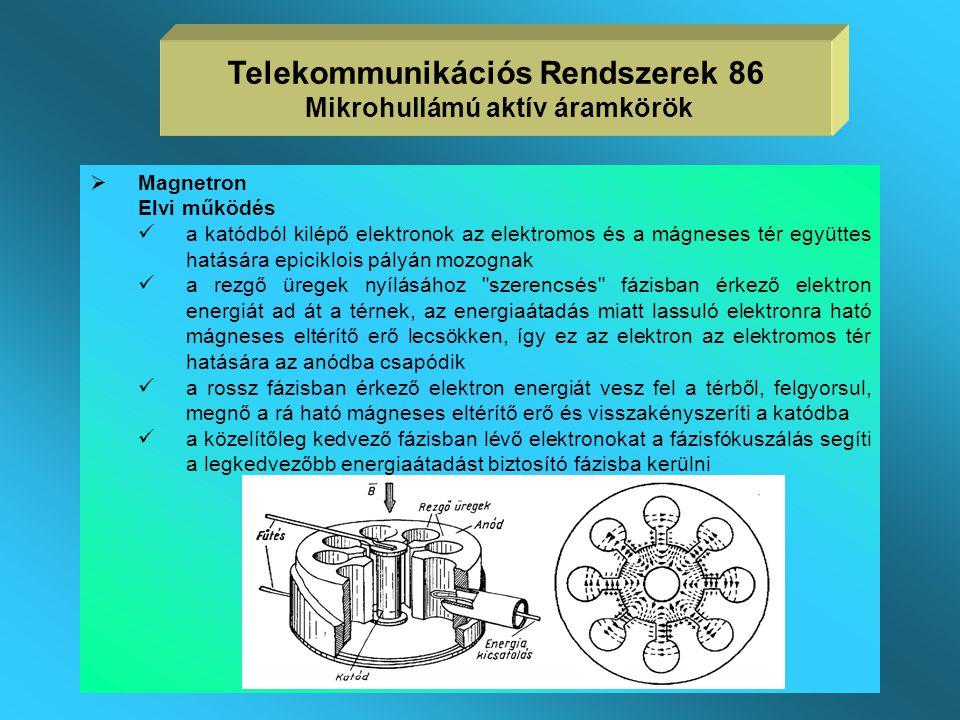 Gyakorlati jellemzők  az izzó katódból kilépő elektronokat 1,5kV körüli feszültséggel gyorsítjuk, az elektronáram néhány mA  az elektronnyaláb a néh