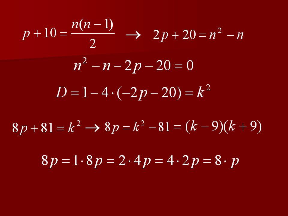 3. feladat Egy egyszerű gráf éleinek a száma prím- szám. Ha még 10 új élt berajzolnánk, teljes gráfot kapnánk. Hány pontja van e gráf- nak?