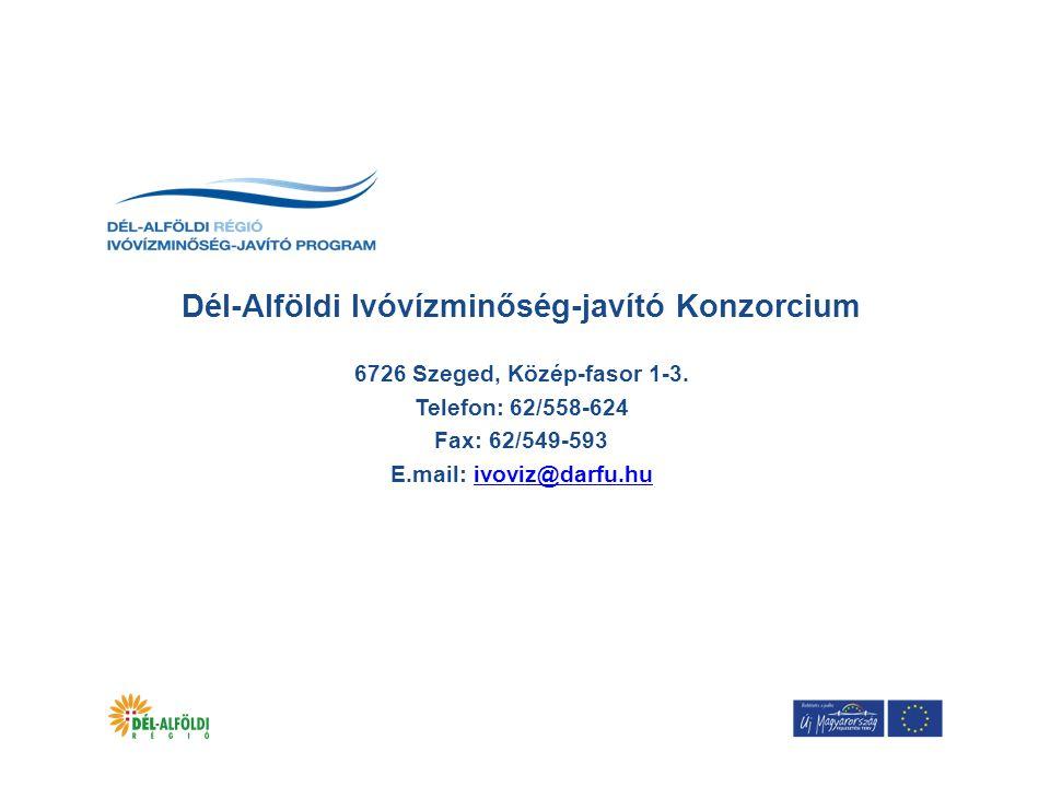 Dél-Alföldi Ivóvízminőség-javító Konzorcium 6726 Szeged, Közép-fasor 1-3.