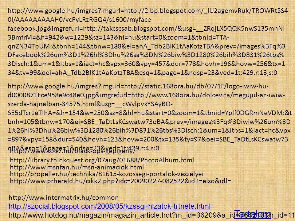 Tartalom http://www.google.hu/imgres?imgurl=http://2.bp.blogspot.com/_IU2agemvRuk/TROWRt5S4 0I/AAAAAAAAAH0/vcPyLRzRGQ4/s1600/myface- facebook.jpg&imgr