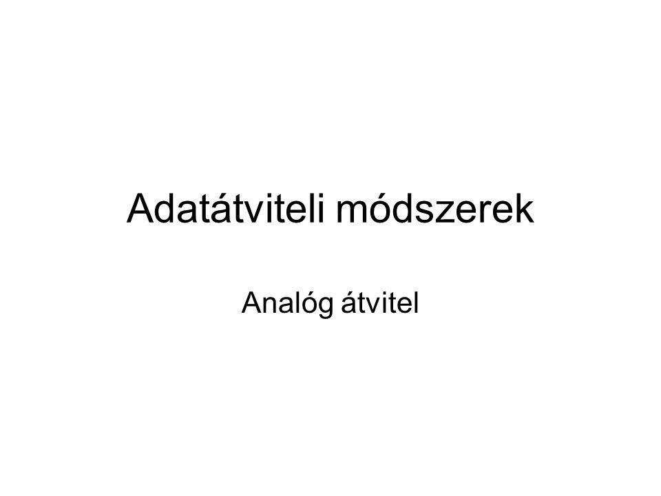 Adatátviteli módszerek Analóg átvitel